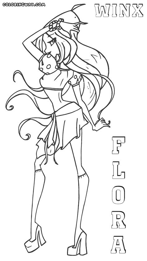 winx flora coloring pages coloring pages to download and