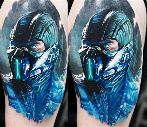 sub zero tattoo sub zero by denis sivak