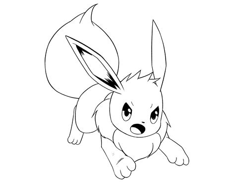 eevee coloring pages az coloring pages