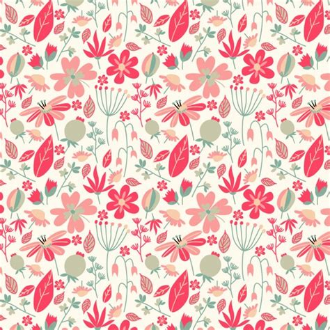 leaf pattern vintage beautiful vintage pattern with flowers and leaves vector