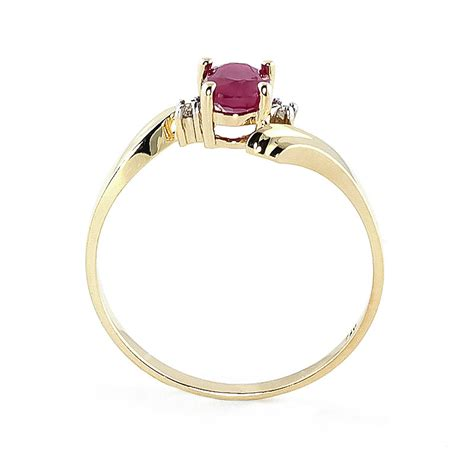 Ruby 5 45ct ruby and embrace ring 0 45ct in 9ct gold 3029y