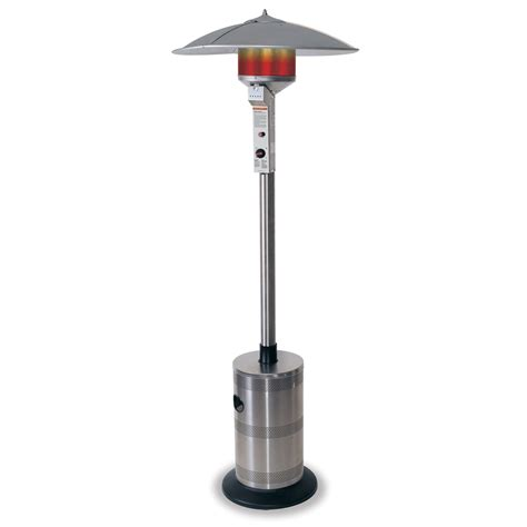 outdoor heater patio shop endless summer 40 000 btu stainless steel liquid propane patio heater at lowes