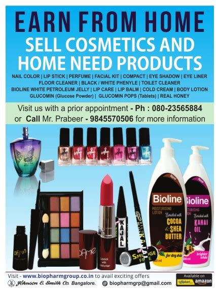 biopharma earn from home sell cosmetics and home