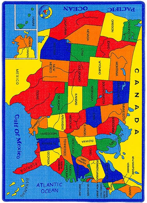 us map rug united states map small area rug rg5114 furniture of america