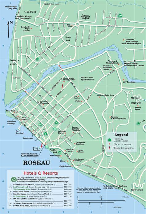 dominica map kartor karibien maps caribbean