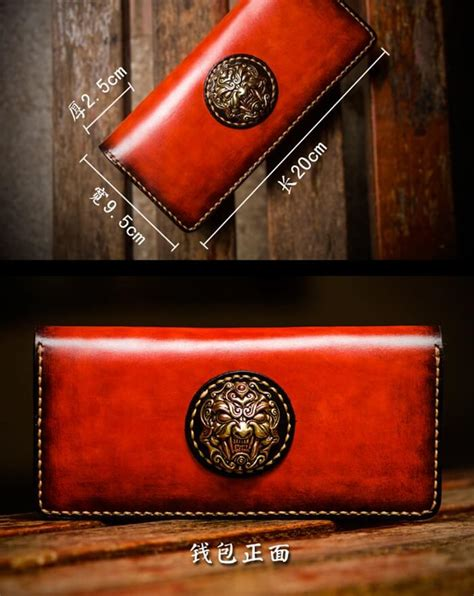 Handmade Biker Wallets - handmade carved biker wallet color bifold makkashop