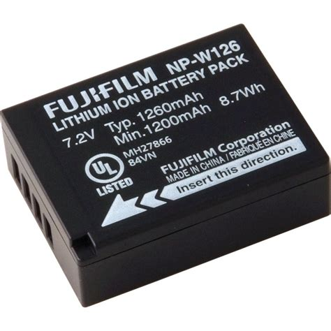 fujifilm np w126 li ion battery pack 16225858 b h photo