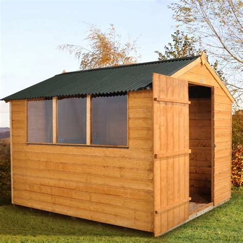 Shiplap Roof by Forest Garden Fsc Shiplap Shed With Onduline Roof 8 X 6ft