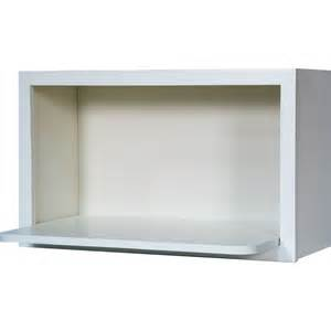 30 inch microwave shelf wall cabinet in shaker white 30 quot everyday