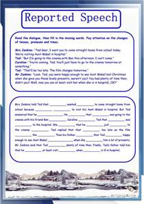 reported speech exercises worksheet free esl printable