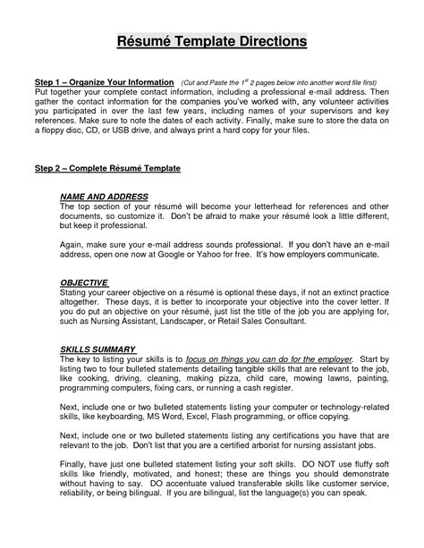 objective and skills Resume Objective Statement Great