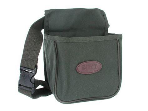 boyt divided shotgun shell pouch belt canvas green