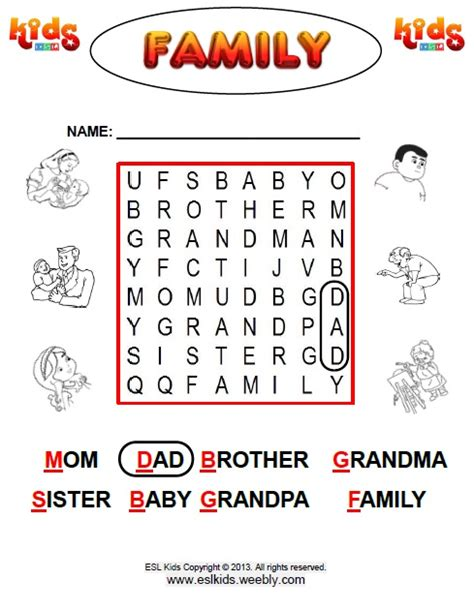 Family Activities 1 Family Activities And Worksheets For