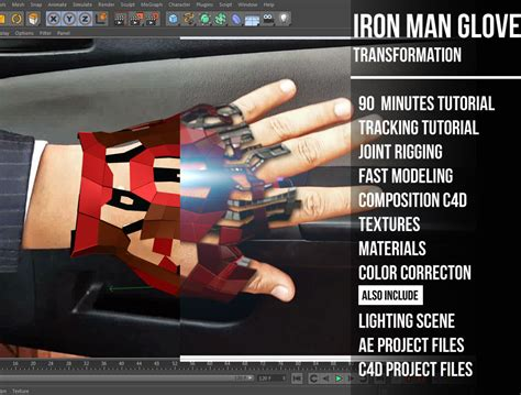 iron man glove tutorial cinema tutorials