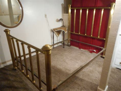 antique brass bed 4 poster bed cast iron rails