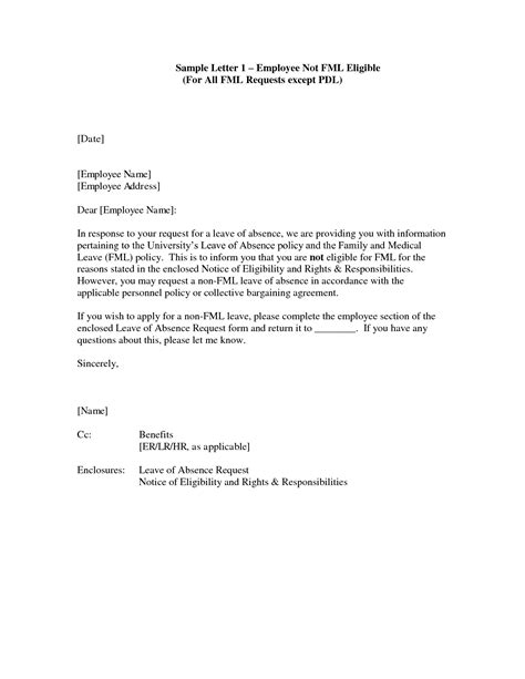 Request Letter Sle For Leave Of Absence Best Photos Of Vacation Leave Request Letter Vacation