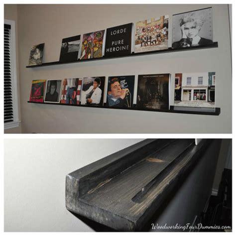 diy display shelves diy record display shelf by woodworking4dummies