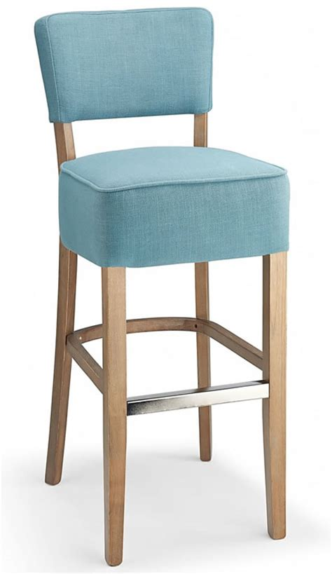 blue bar stools kitchen furniture fabric padded seat kitchen breakast bars stools