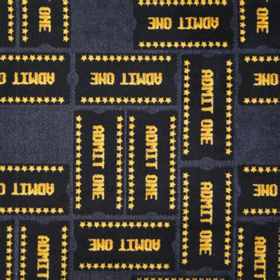 ticket  theater carpeting