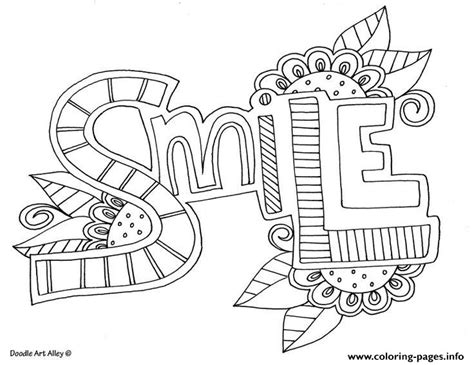 Coloring Page Words by Word Smile Coloring Pages Printable