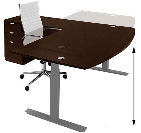 desk l electric lift height adjustable l shaped desks