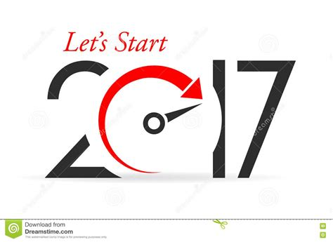 start of new year 2017 lets start new year 2017 stock vector illustration of