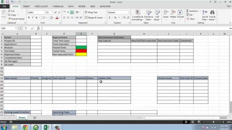 weekly test report template software testing weekly status report template
