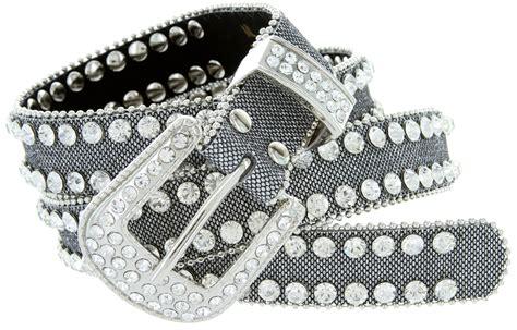 9001 s rhinestones studded fashion belt 1 quot wide silver