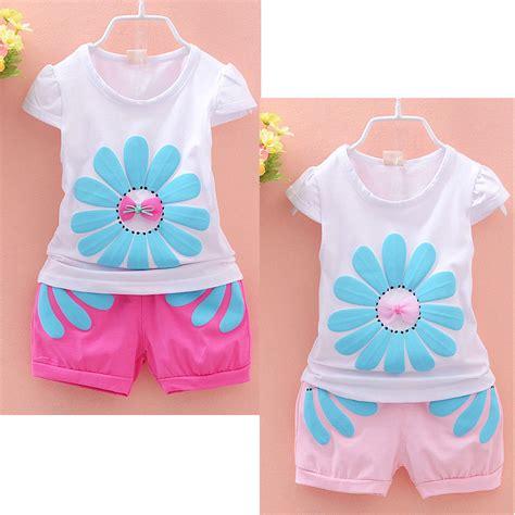 Aliexpress Buy Fashion Baby Clothing Baby Clothes Summer 2pcs Set Cotton T Shirt And Shorts Baby Clothing