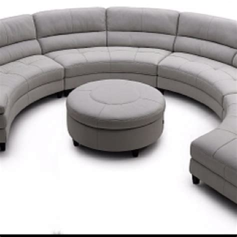 half circle couch design our new 1 2 circle sofa and ottoman delivery wednesday