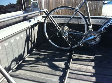 How To Build A Truck Bed Bike Rack by Pvc Truck Bed Bike Rack All