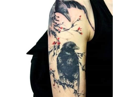 raven sleeve tattoo designs 75 stunning collection golfian
