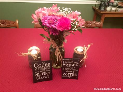 diy chalkboard jar candle centerpiece diy coffee inspired chalkboard signs