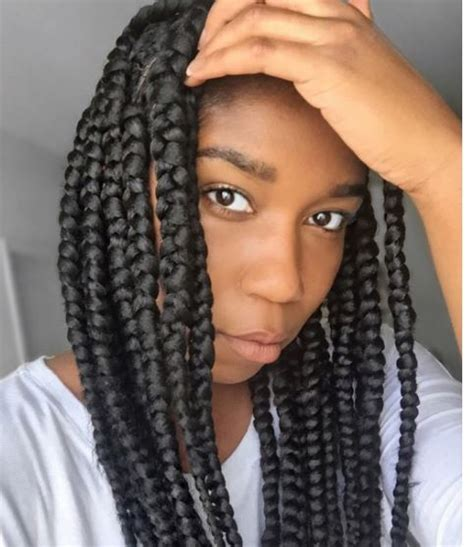 how to do jumbo box braids how to do jumbo box braids using the elastic band method