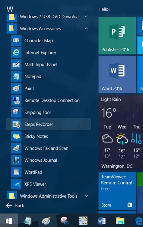 windows 10 start menu requests transparency and animations