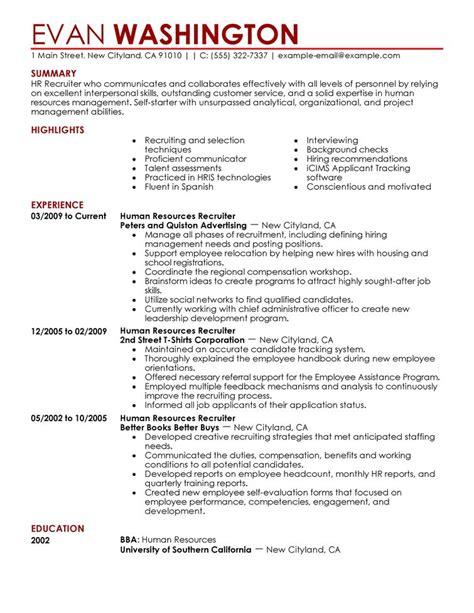 human resource resume 7 amazing human resources resume exles livecareer