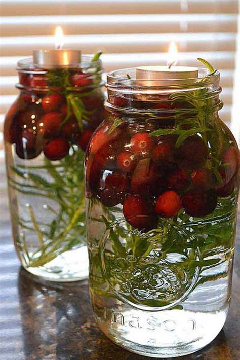 22 swift and cheap mason jar crafts filled with holiday