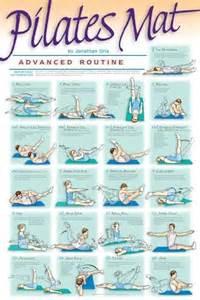pilates poster advanced routine pilates routines
