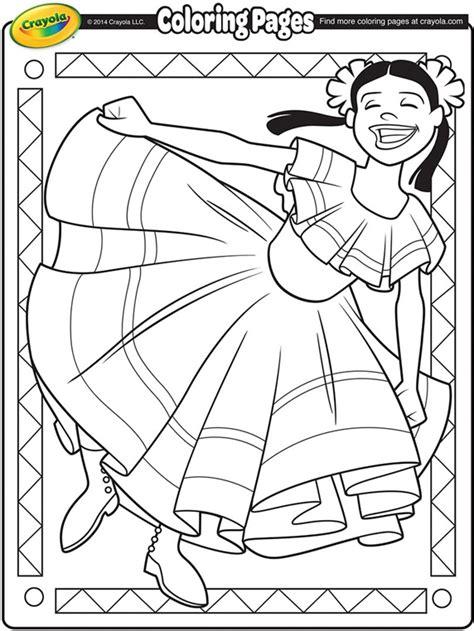 cinco de mayo coloring pages cinco de mayo dancer coloring page crayola