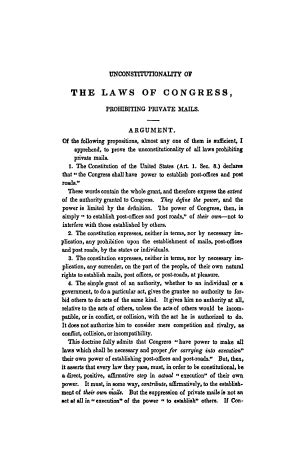 The Unconstitutionality of the Laws of Congress