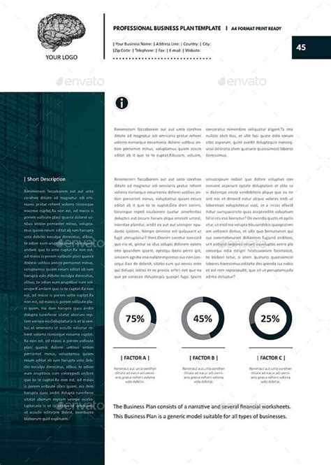 business plan pro templates professional business plan template by keboto graphicriver