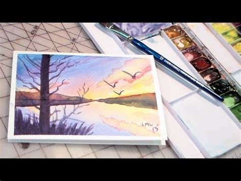 tutorial watercolor sunset watercolor sunset tutorial youtube