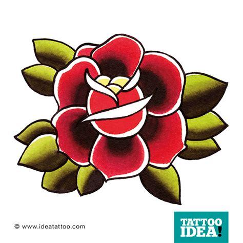 traditional roses rosa dei fiori ideatattoo