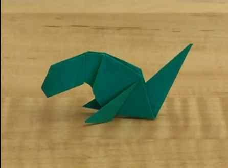Origami Allosaurus - dinosaur crafts a collection of dinosaur themed
