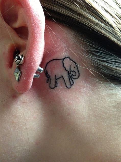 small elephant tattoo behind ear lil elephant tattoo tattoo ideas pinterest