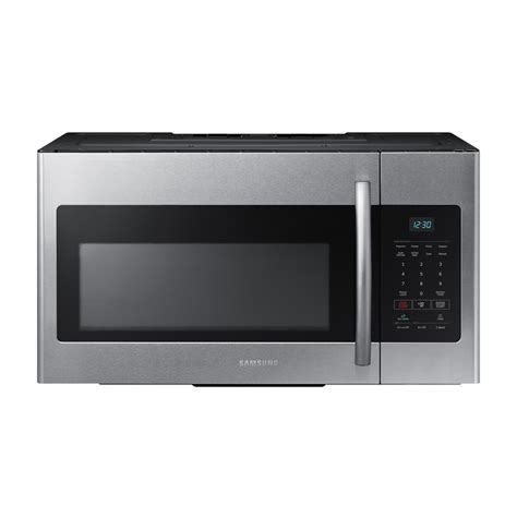 samsung the range microwave shop samsung 1 6 cu ft the range microwave stainless steel common 30 in actual 29 875