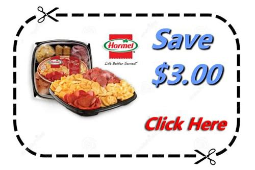 hormel party tray printable coupon