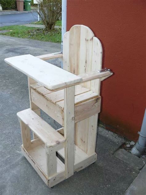 chaise palette chaise haute en bois de palette chaise banc
