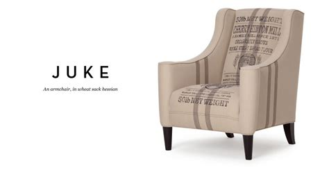 Designs Arm 5719 by Juke An Armchair In Wheat Sack Hessian Recognisably