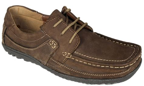 mens monaco or brown soft leather lightweight casual